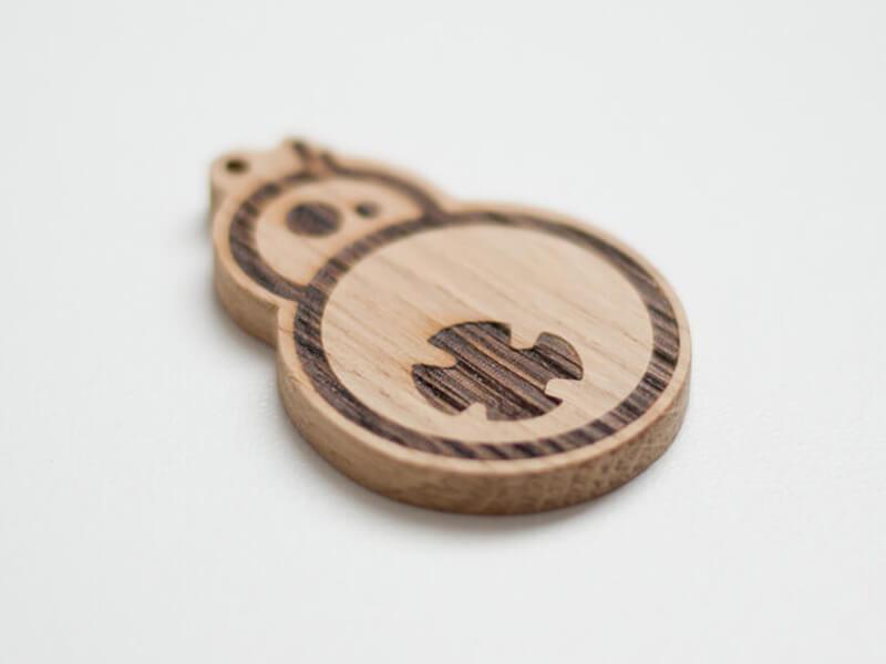 Holzschlüsselanhänger